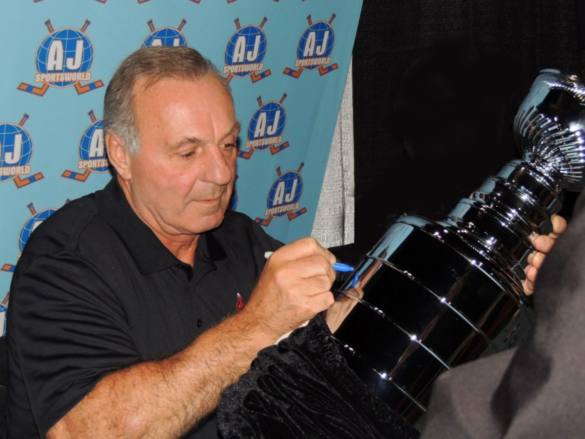 Guy Lafleur played 17 NHL seasons. He was elected into the Hockey Hall of Fame in 1988.