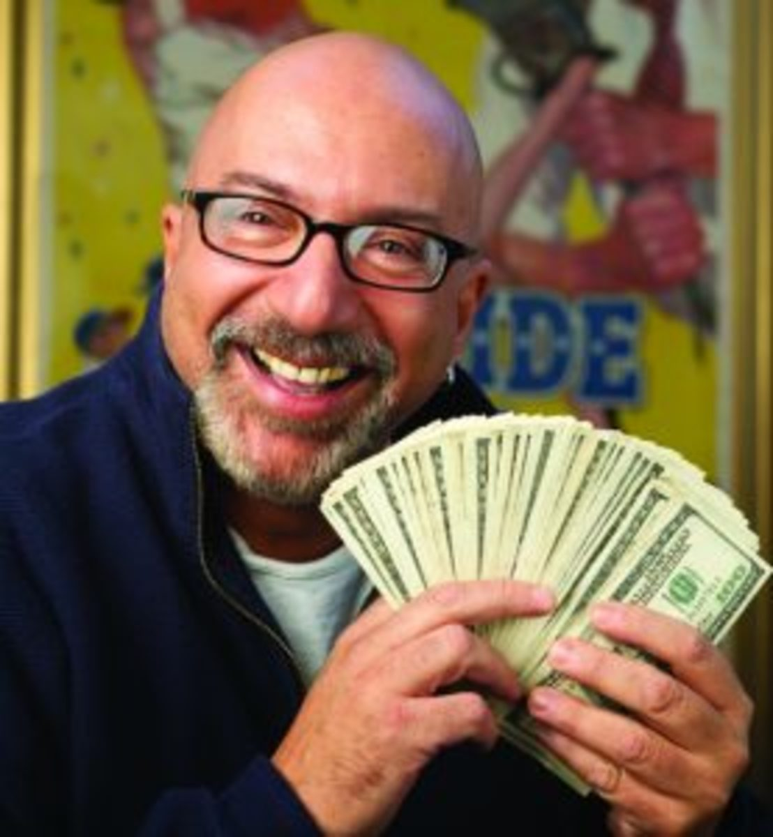 """Alan """"Mr. Mint"""" Rosen was a fixture at sports collectibles shows across the country buying memorabilia with $100 bills. (SCD File Photos)"""