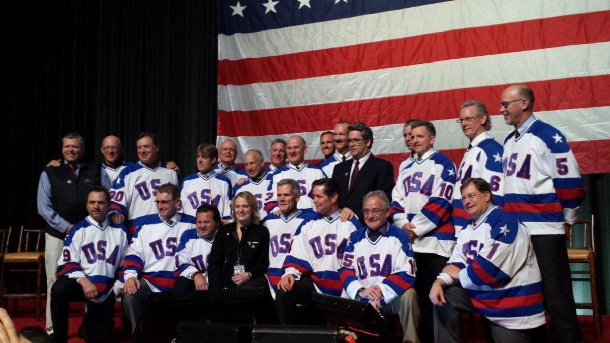 The 1980 U.S. Men's Hockey Team reunited for a 35th anniversary celebration in Lake Placid, N.Y., the site of the team's heroic Olympic gold medal run.