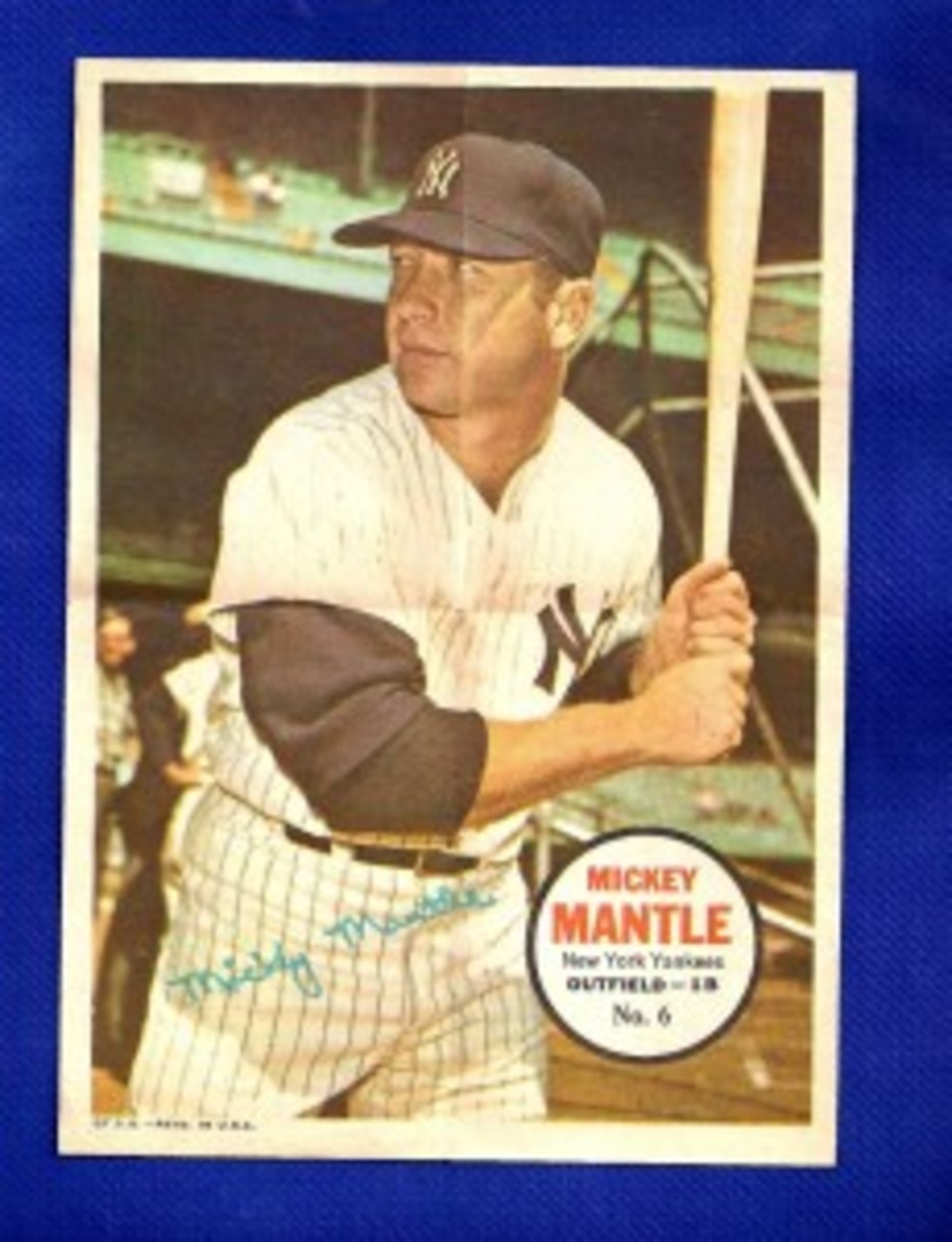 Those looking for pin-ups in the 1967 Topps Baseball packs didn't find Rita Hayworth, but they could find Mickey Mantle – a suitable substitute for baseball fans.