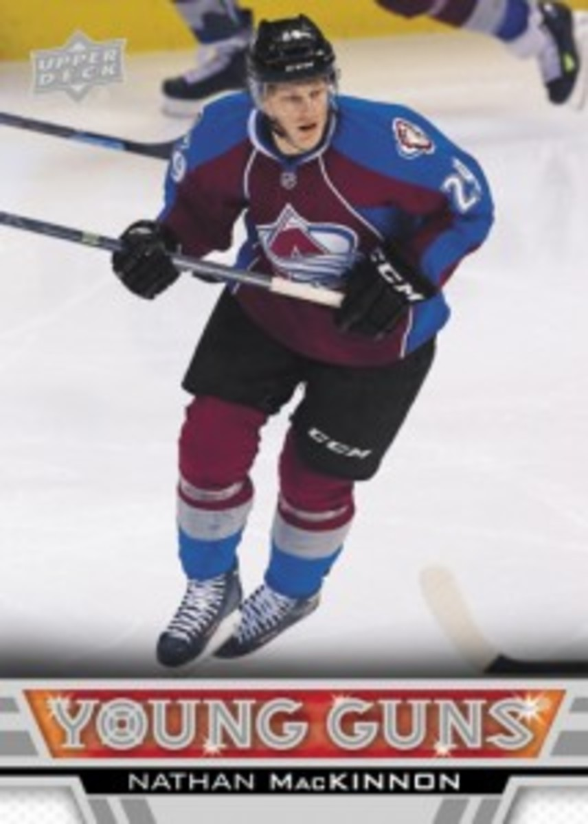 2013-14-NHL-Upper-Deck-Series-One-Young-Guns-Rookie-Card-Nathan-MacKinnon-Colorado-Avalanche