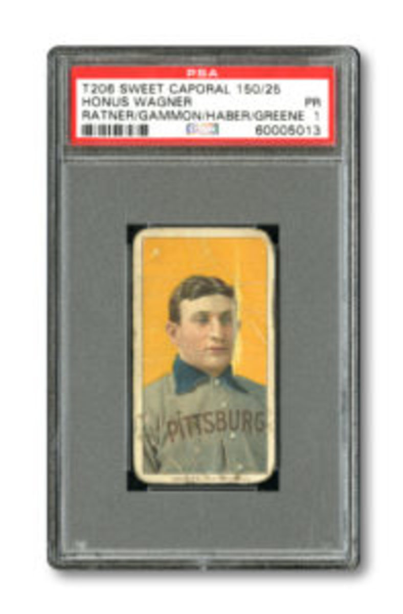 """The Original Wagner"" T206 card, which has had only four owners, is available in SCP Auctions' 2017 Spring Premier Auction. (Image provided by SCP Auctions)"