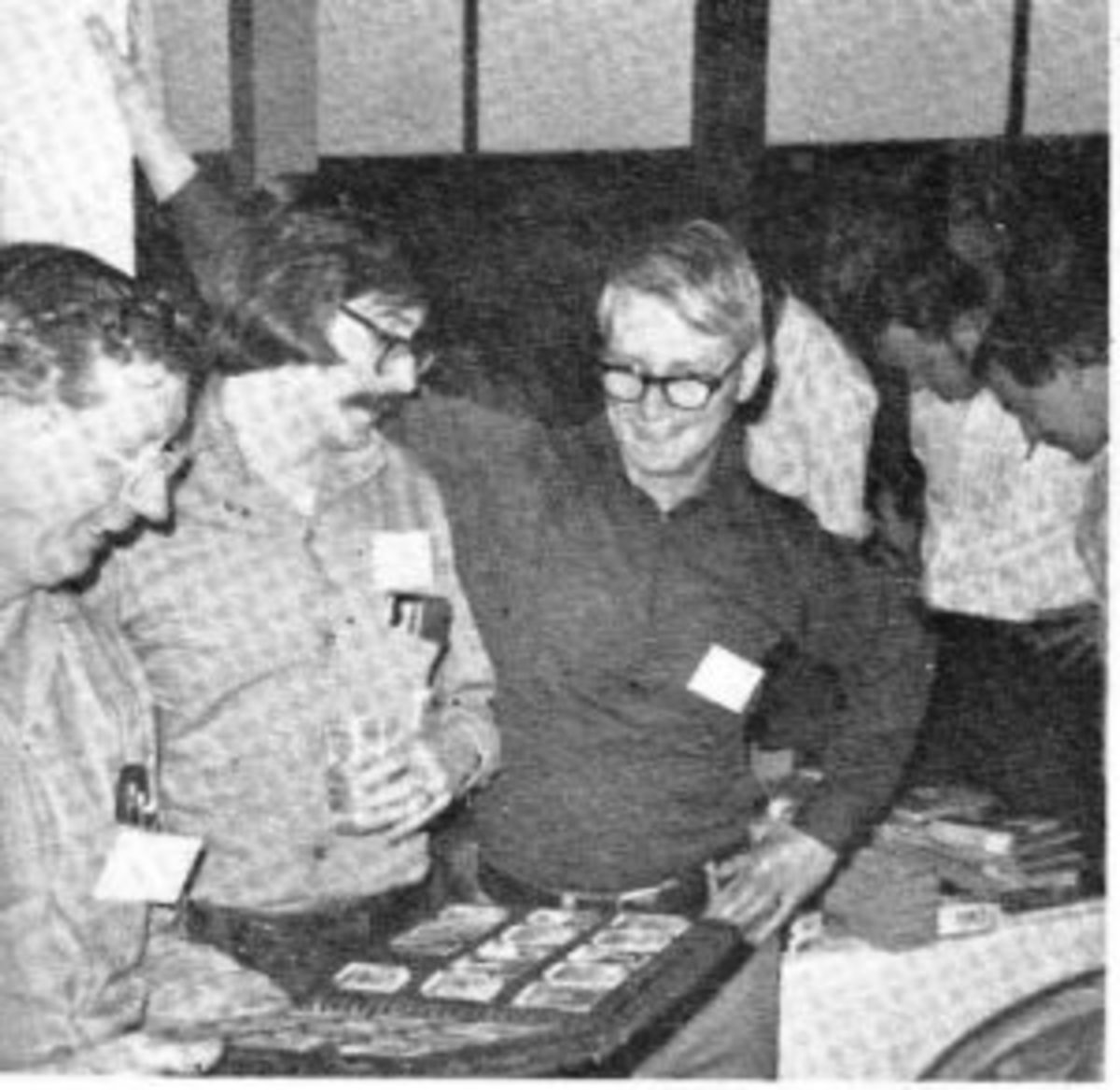 Lionel Carter, Rich Egan, and Gar Miller (left to right) at a Chicago Convention in 1973.