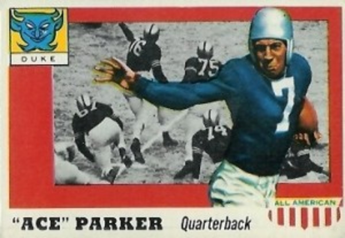 """Ace"" Parker leads the team of oldest living former players. At age 101, he is the signal caller of this club."