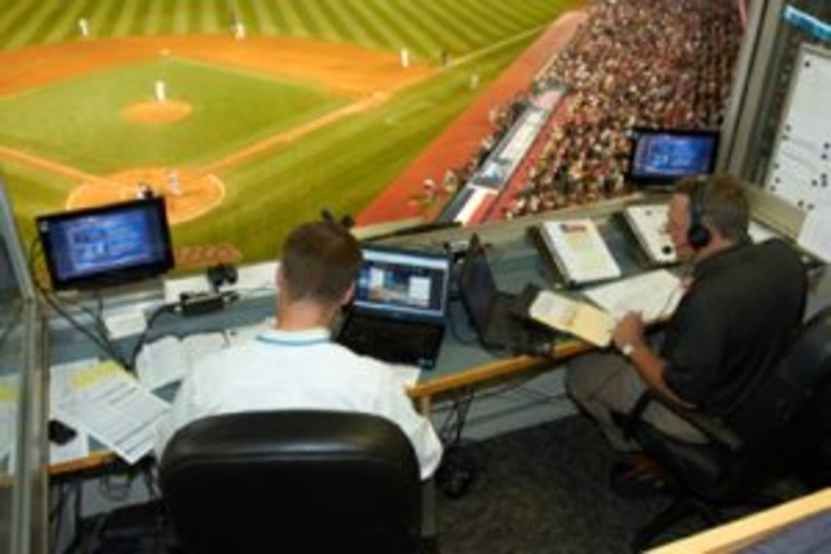 Tom Hamilton started doing radio broadcasts for the Clevelend Indinans in 1990. (Courtesy the Cleveland Indians.)