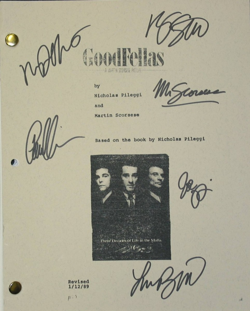 """A """"Goodfellas"""" screenplay signed by Martin Scorsese and other stars in the movie is a very rare collectible. Unfortunately, even rare collectibles can be frauds."""