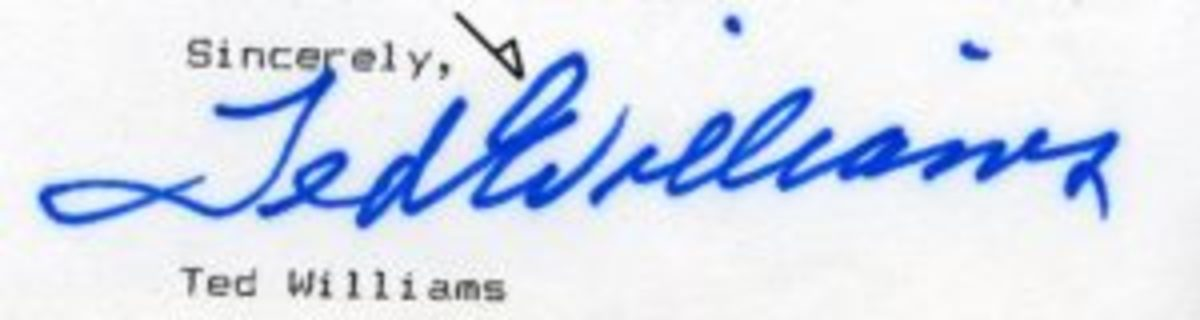 An example of a common secretarial signature.