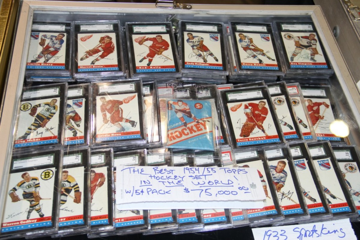 This 1954-55 Topps Hockey set tipped the scales at $75,000.