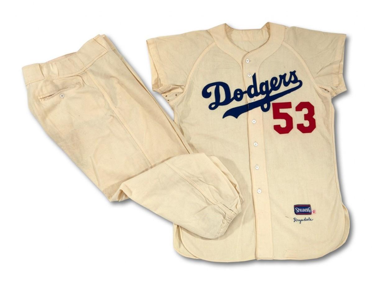 Don Drysdale '56 Dodgers Uniform