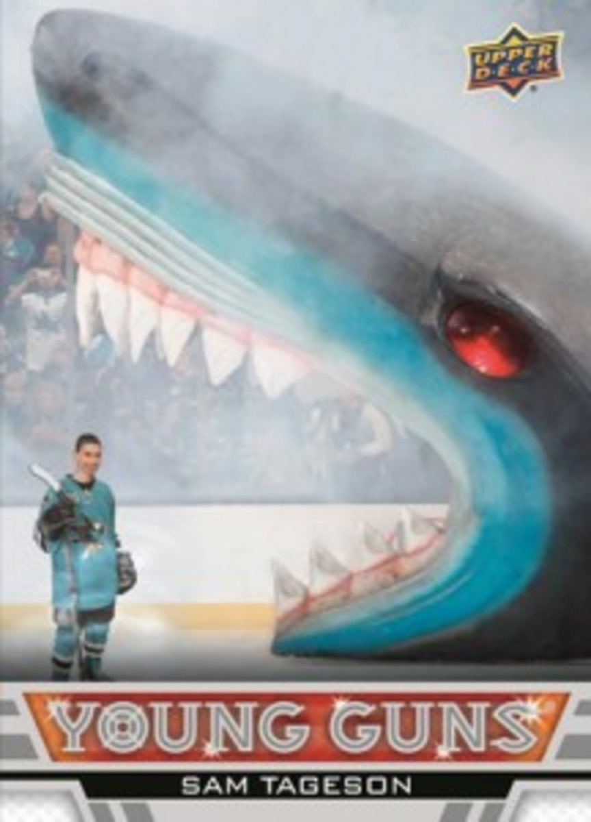 2013-14-NHL-Upper-Deck-Young-Guns-Rookie-Heroic-Inspirations-Sam-Tageson-Front