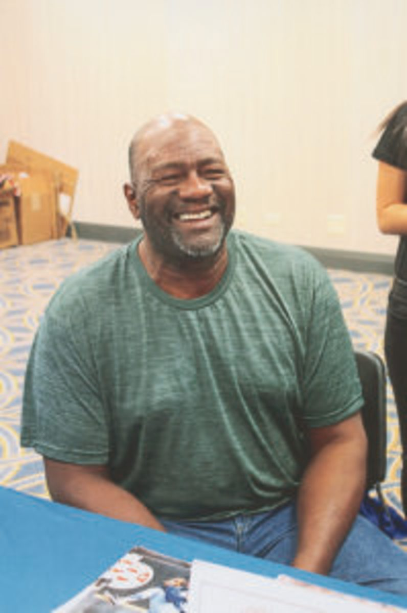 Lee Smith was on of the past Cubs players who signed autographs at the 2018 Cubs Convention.