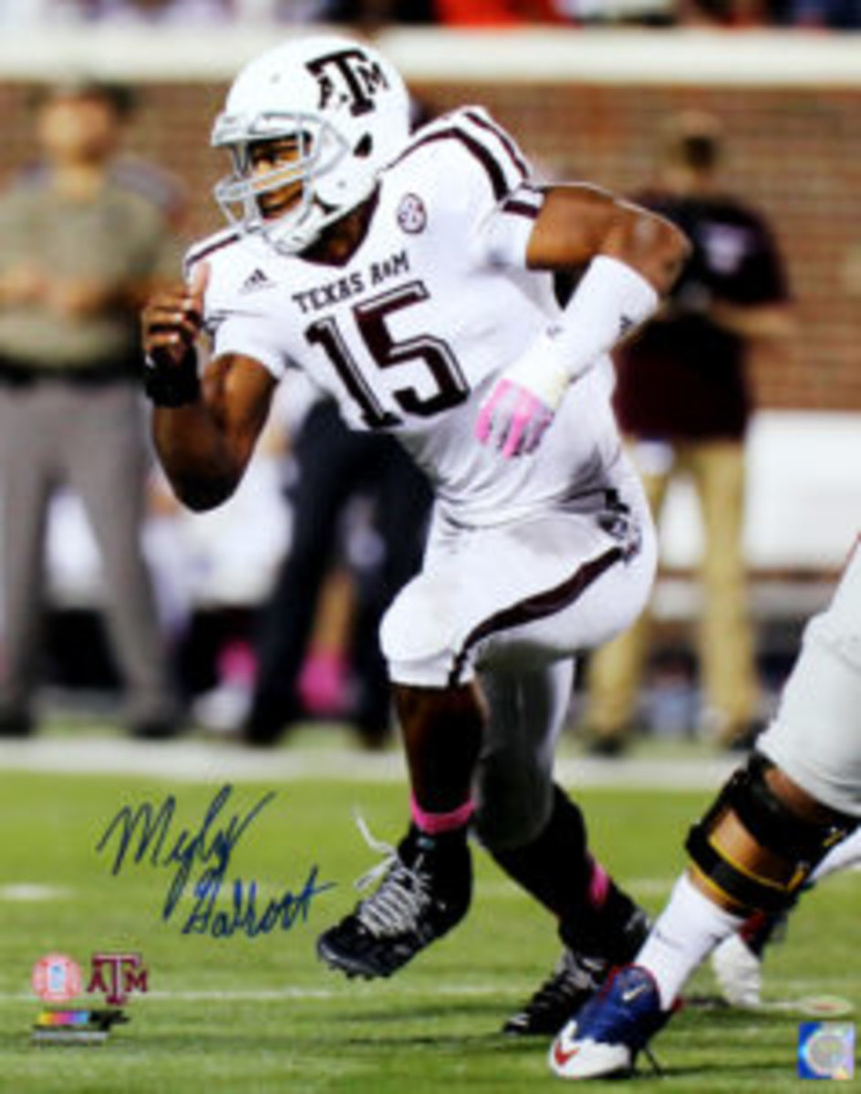 "An 8"" by 10"" Myles Garrett autographed photo."