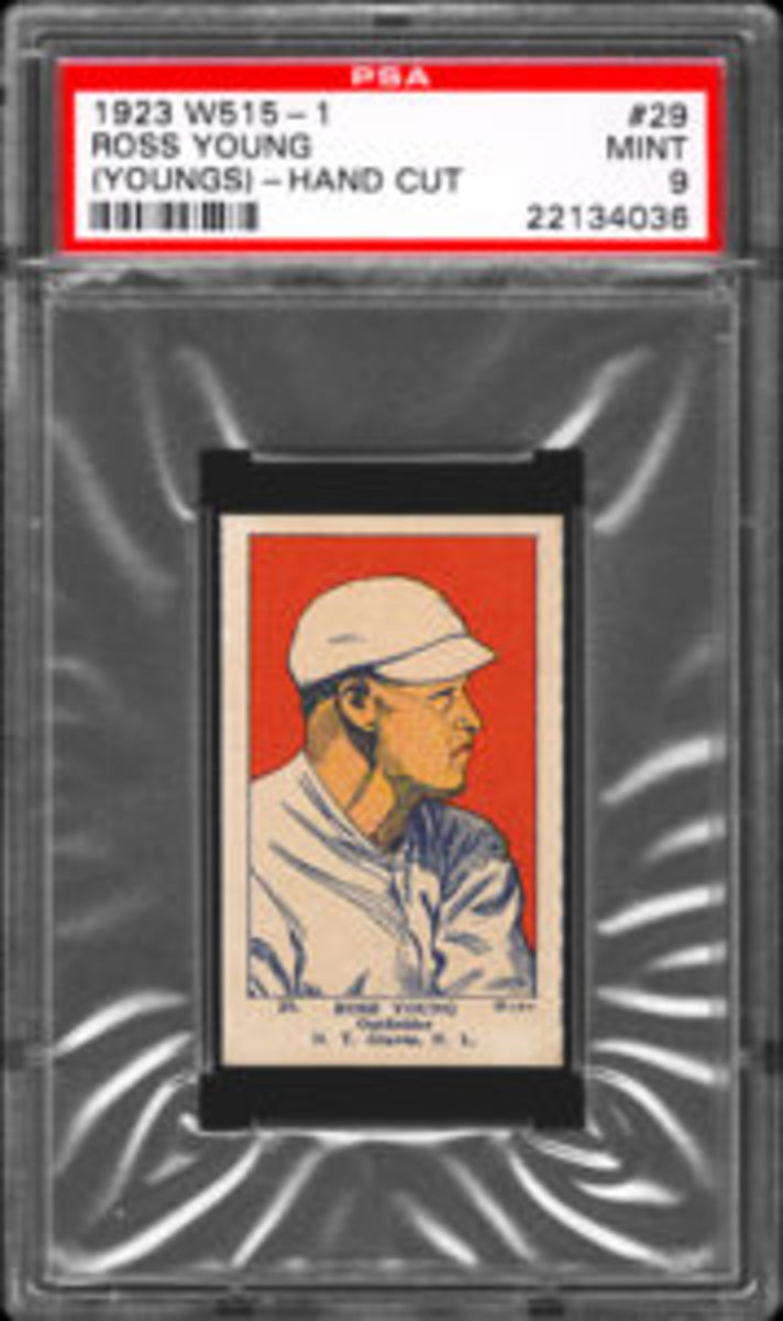 This 1923 W515-1 card of Ross Young (Youngs) is a favorite of Steve Peltz. (Photo courtesy Steve Peltz)