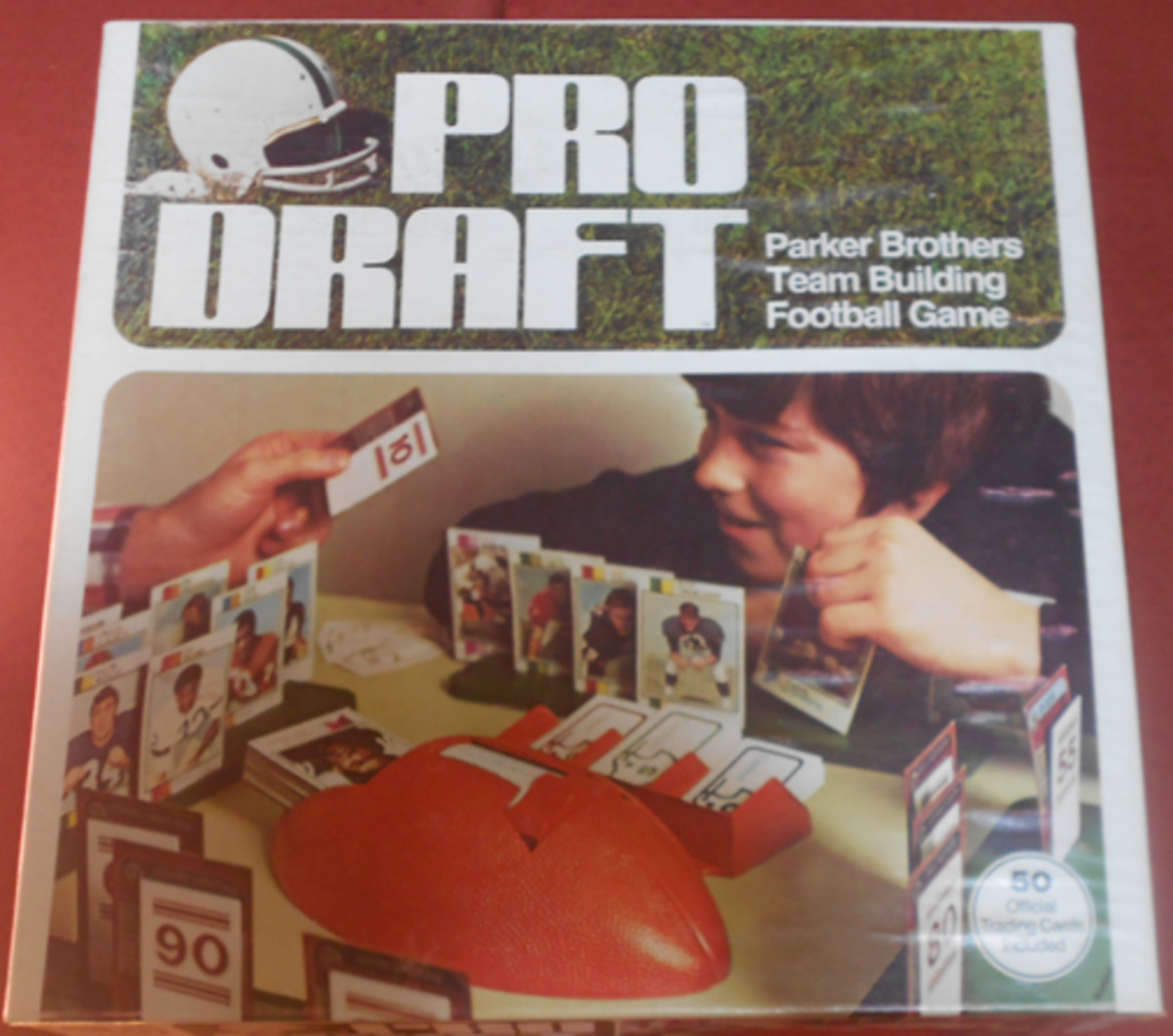 The picture on the 1974 Parker Brothers Pro Draft game box shows 1973 Topps cards. Some say an early version of the game included 50 cards from '73; even so, no cards from that year show any variations that would identify them as Parker Brothers cards, so none from '73 are classified as such.