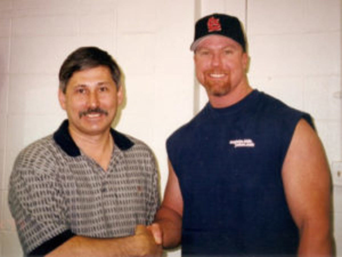 John Ferreira and Mark McGwire, then with the Cardinals, during the Operation Bullpen investigation.