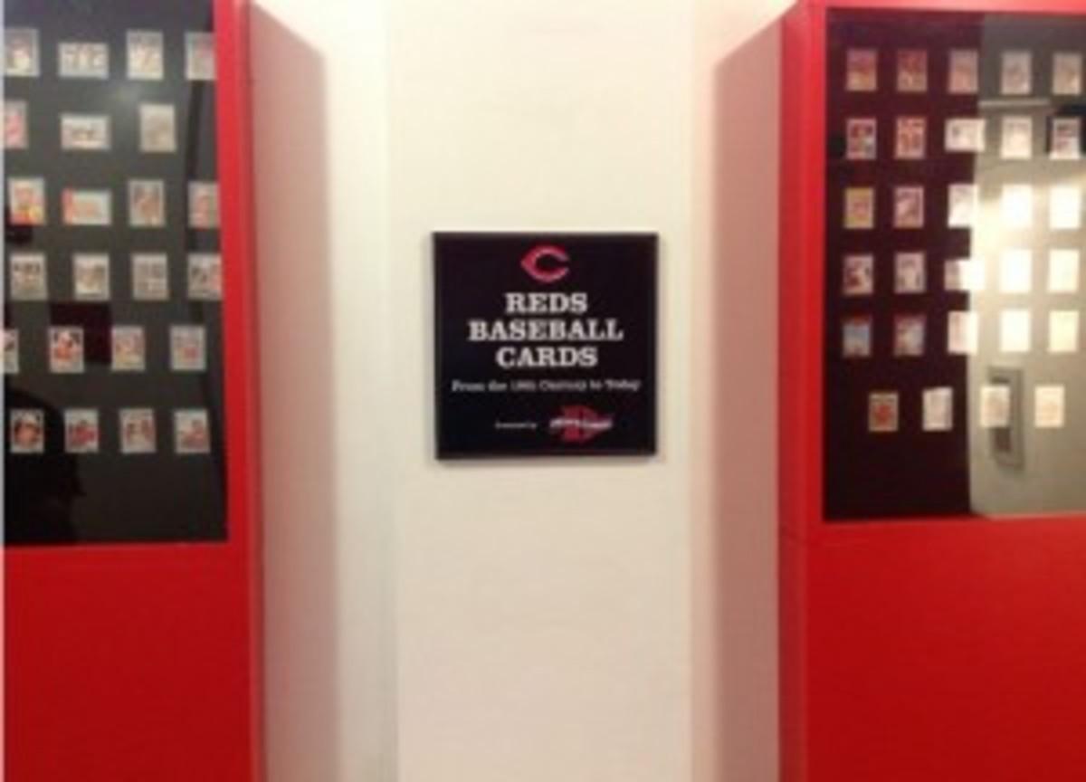 The Dean's Cards display at the Cincinnati Reds HOF.