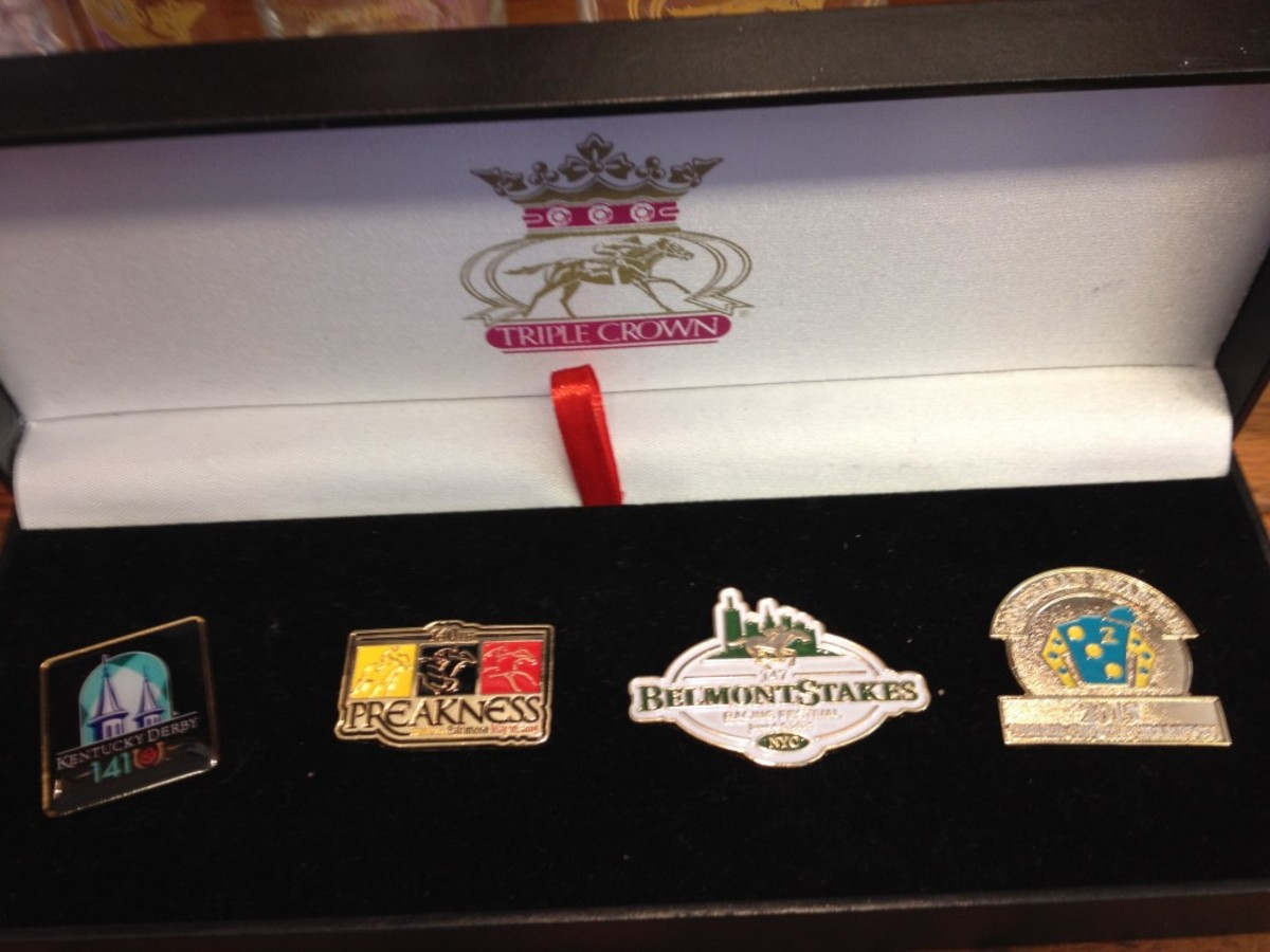 Pins, caps and shirts related to American Pharoah have been selling briskly.