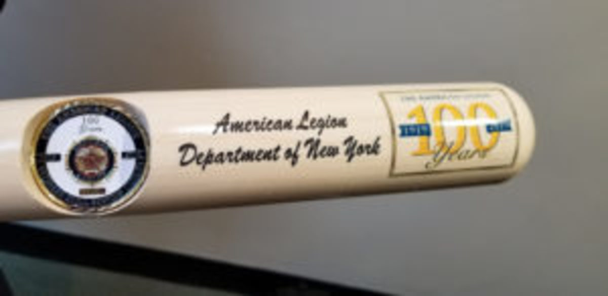 One of the newest bats in the Baseball Hall of Fame pays tribute to one of the world's largest veterans organizations and the many Hall of Famers who served their country in the United States military.