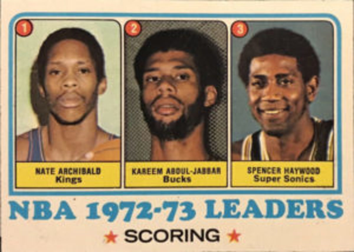 Nate Archibald leading the NBA in scoring during the 1972-73 season was acknowledged in the 1973-74 Topps Basketball set.