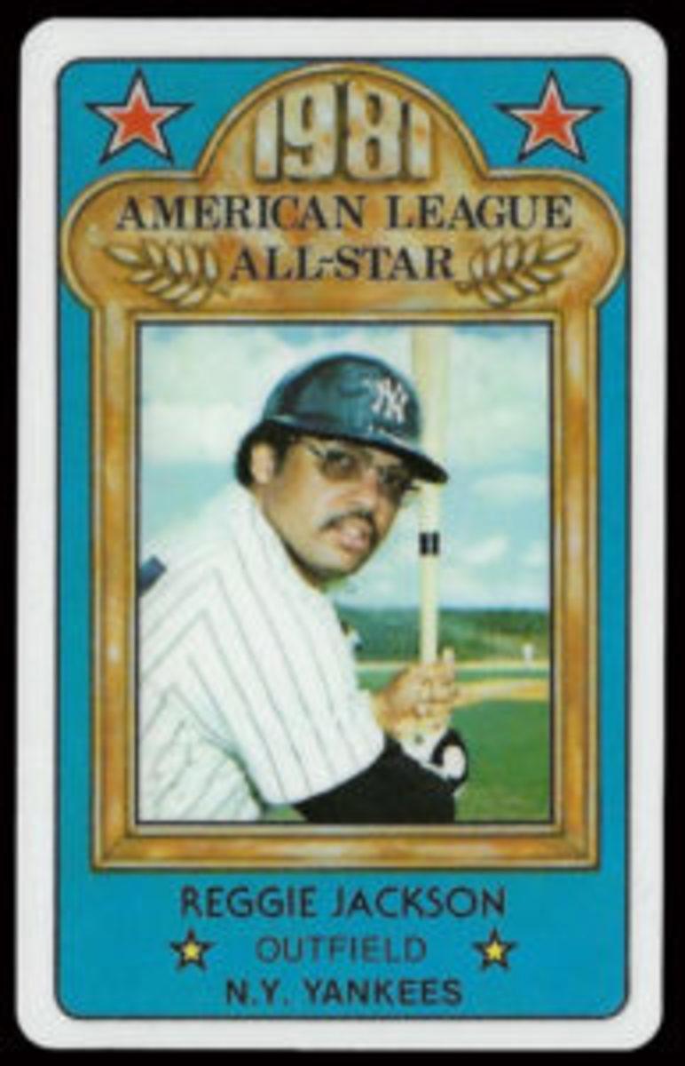 1981 Perma-Graphics Reggie Jackson All-Star card