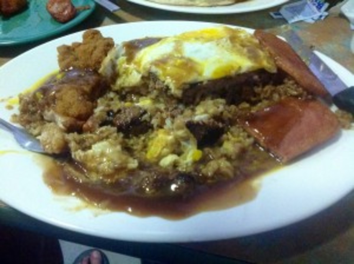 It's called Loco Moco, or as aI say, Heart Attack on a Plate.