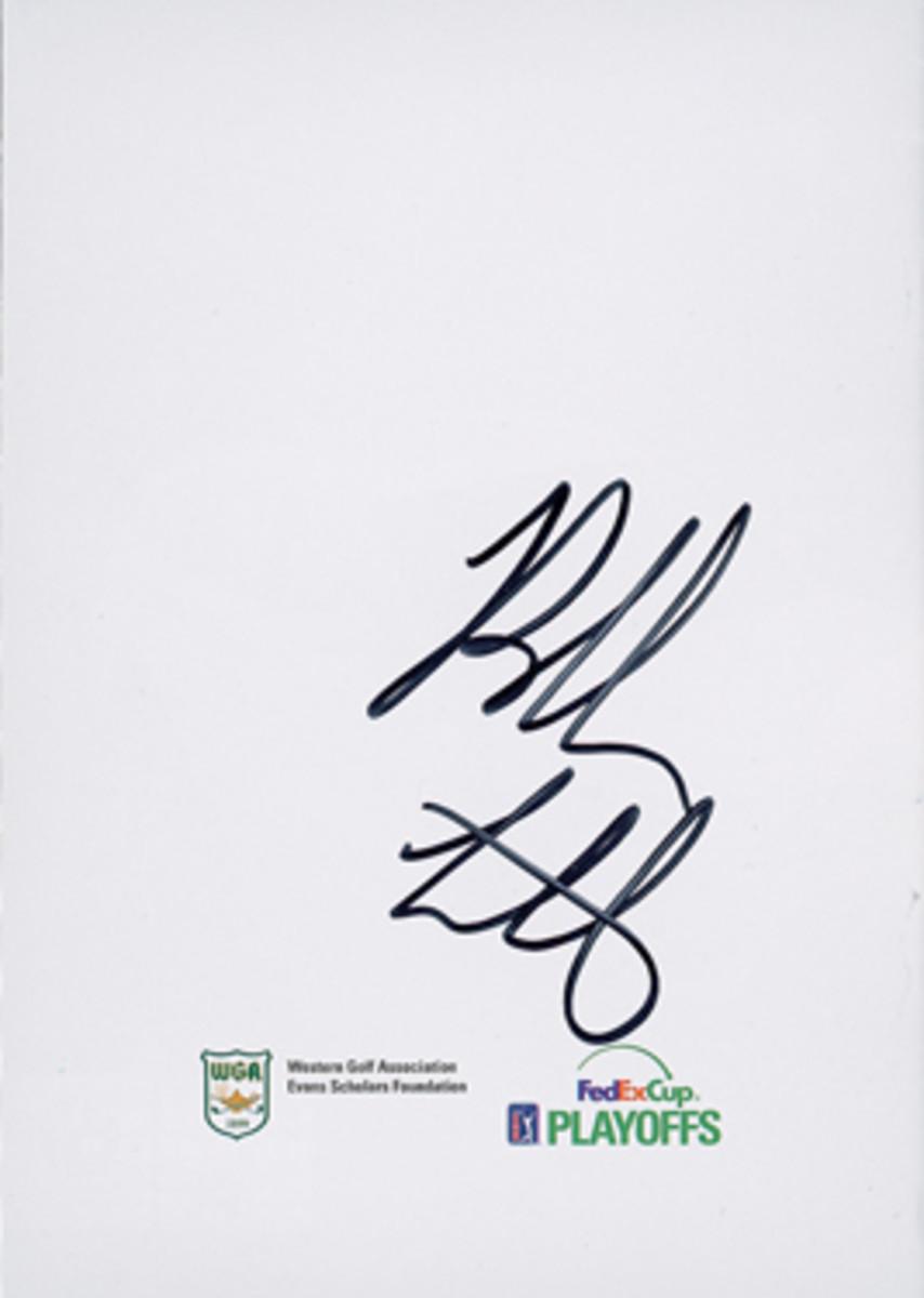 Bubba Watson's signature.