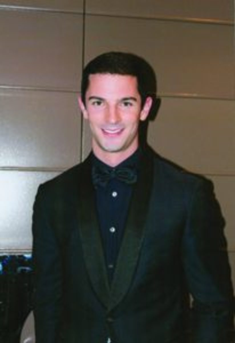 Alexander Rossi, winner of the 2016 Indianapolis 500, received the Athlete of the Year award. (Rick Firfer photo)