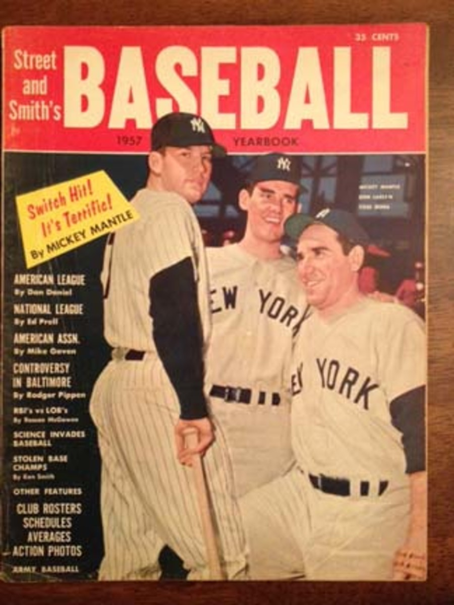 Editions of Street & Smith's Baseball Yearbook in the 1950s were filled with N.Y. Yankees or members of the Milwaukee Braves.