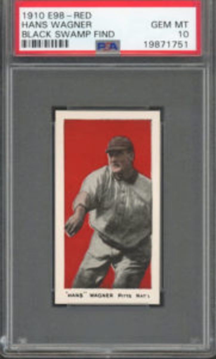 This Hans Wagner card in Brady Hill's collection came from the Black Swamp Find. (Image courtesy Brady Hill)