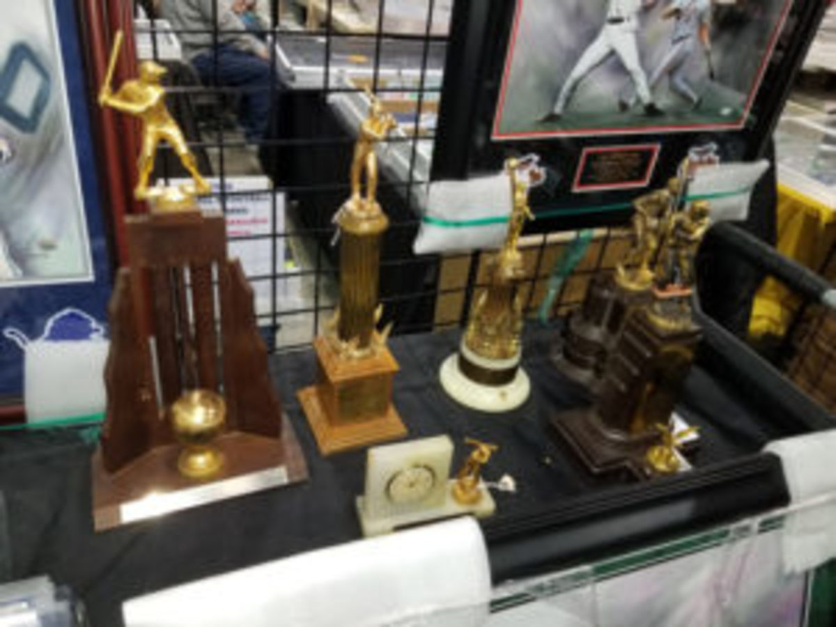 One dealer was selling vintage trophies for $100. (Ross Forman photo)