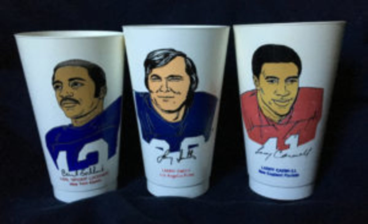 The Spider Lockhart, Larry Smith and Larry Carwell Slurpee cups from the 1973 7-Eleven set are some of the toughest to find.