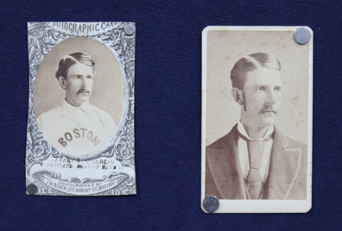 The 1870s Red Stockings stash included not only a Mort Rogers card of future Hall of Famer A.G. Spalding, but the oldest known cabinet card of the star pitcher.