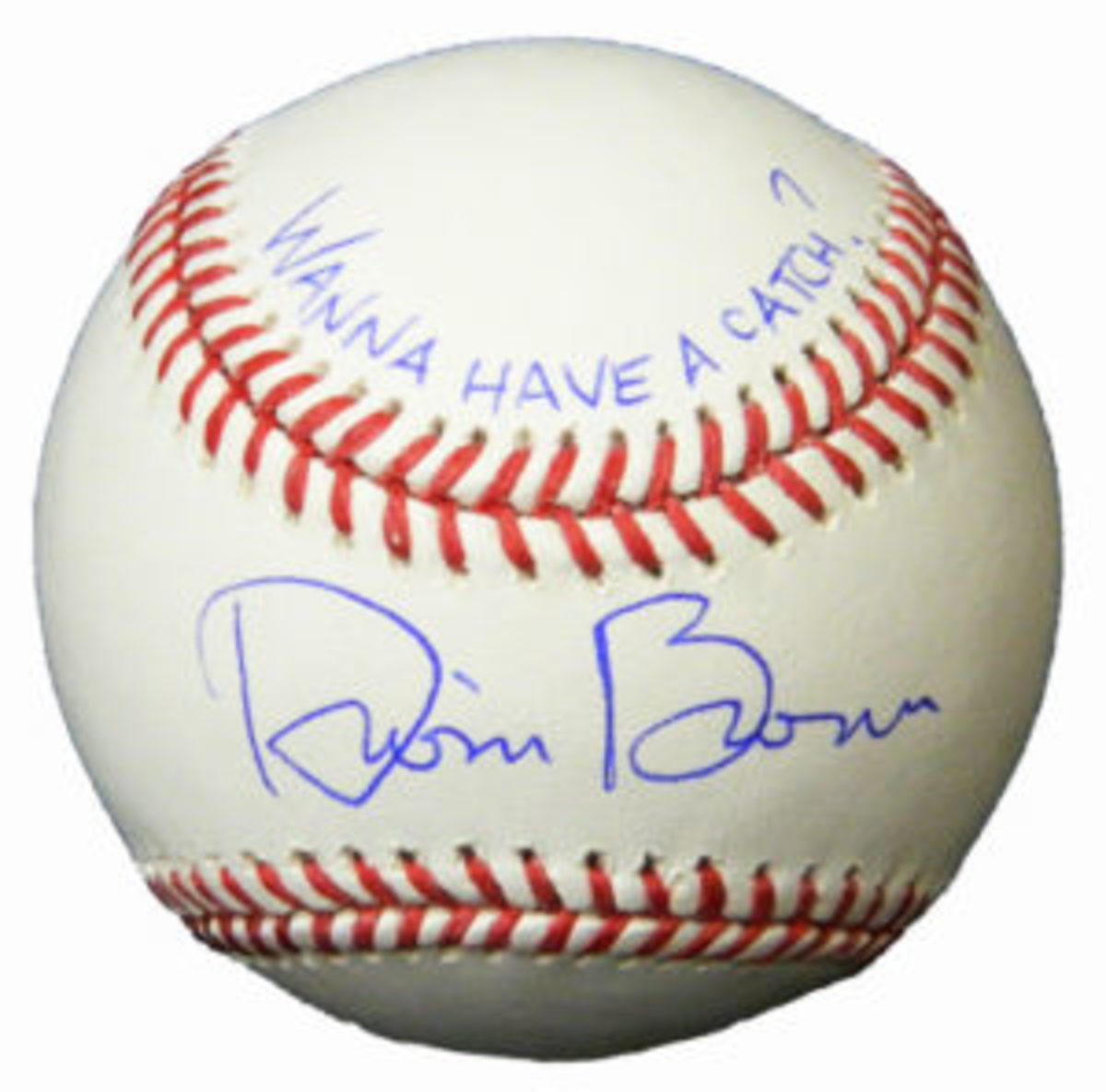 A baseball autographed by Dwier Brown, who played John Kinsella, in the movie Field of Dreams.