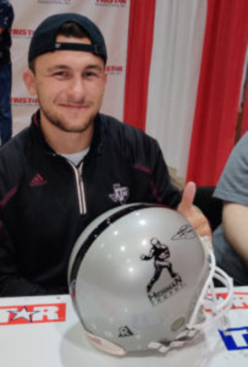 Johnny Manziel was a popular signer at the TRISTAR Collectors Show held in Houston, June 7-9. (Ross Forman photos)