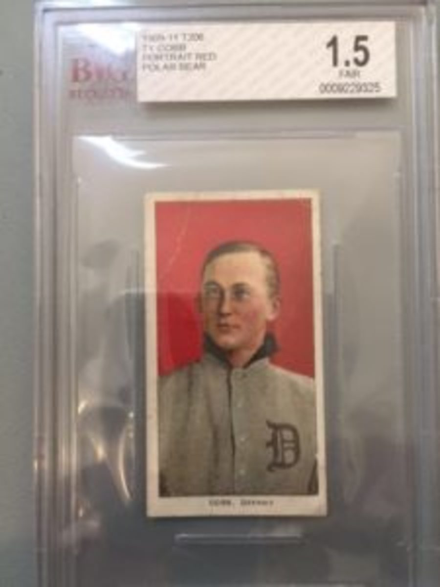 "There was no price or reference to which back is on this T206 Cobb card, which left potential buyers to ""guess"" at a price until the dealer could come to help. Collectors suggest viewing cards and other items shouldn't be a version of guessing prices as on the ""Price is Right"" television game show."