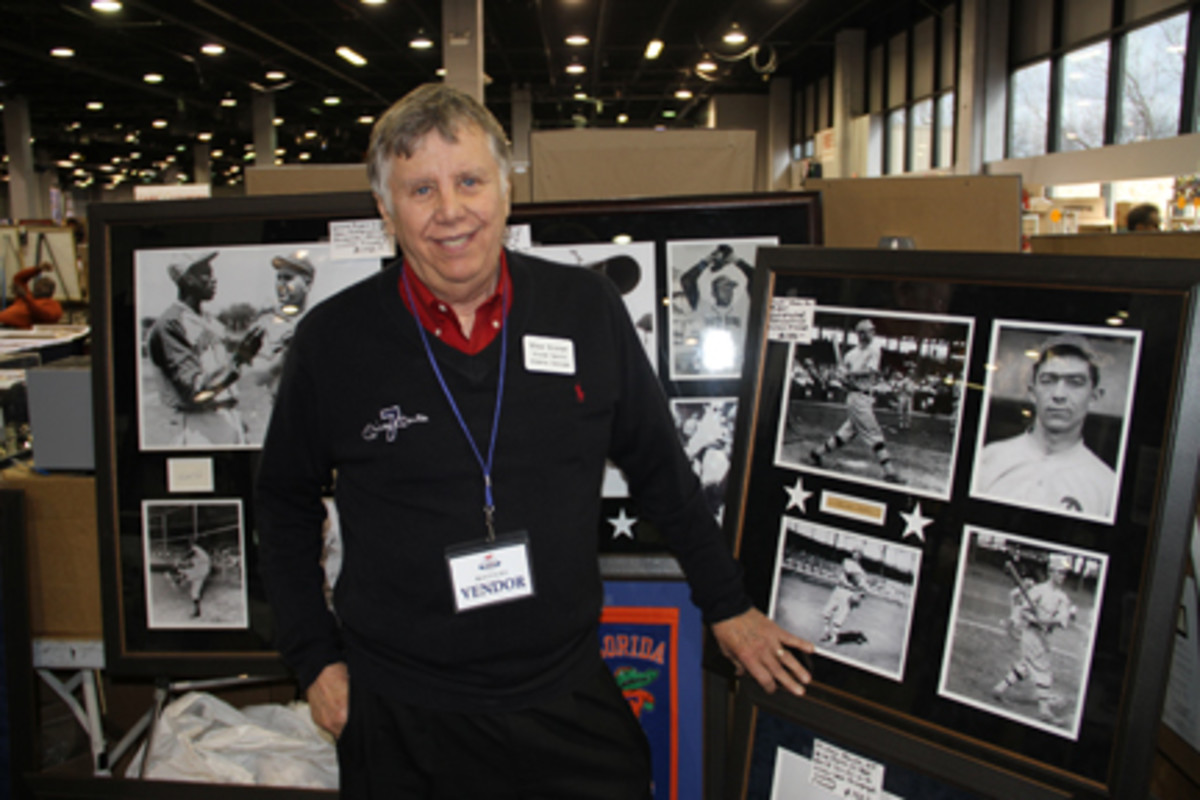 Mike Stoner specializes in framed, autograph displays, taking the care to match photos with the featured signatures. You'll see him at more than a dozen shows throughout the year. Show floor photos by Ross Forman.