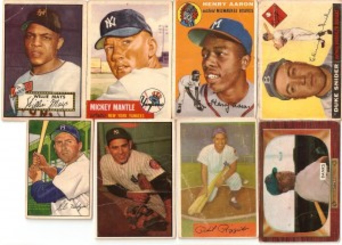 Topps cards from the 1950s did better than 1950s Bowmans as to performance on the VVCI.