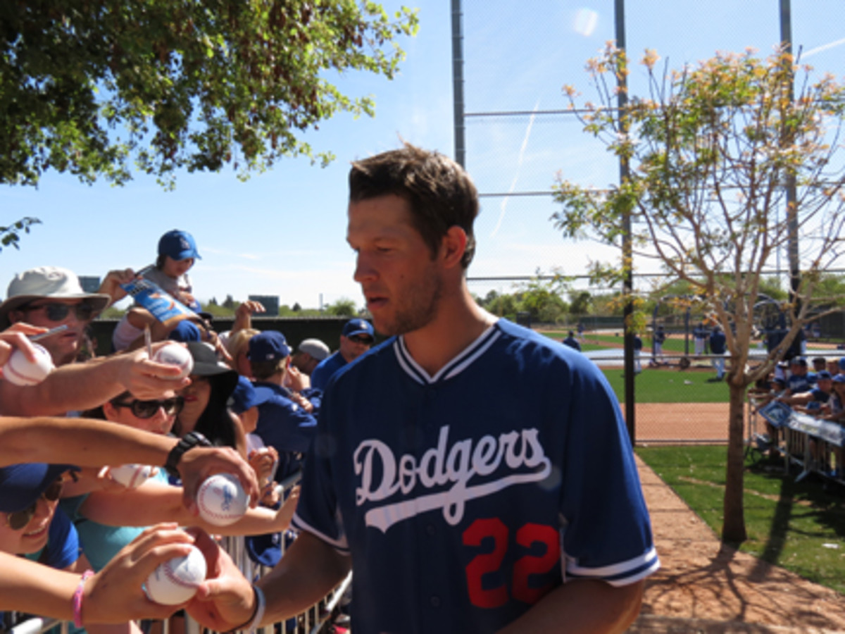 With the move to Arizona, the L.A. Dodgers kept the autograph walkway tradition alive. Clayton Kershaw was a willing and active signer this spring.