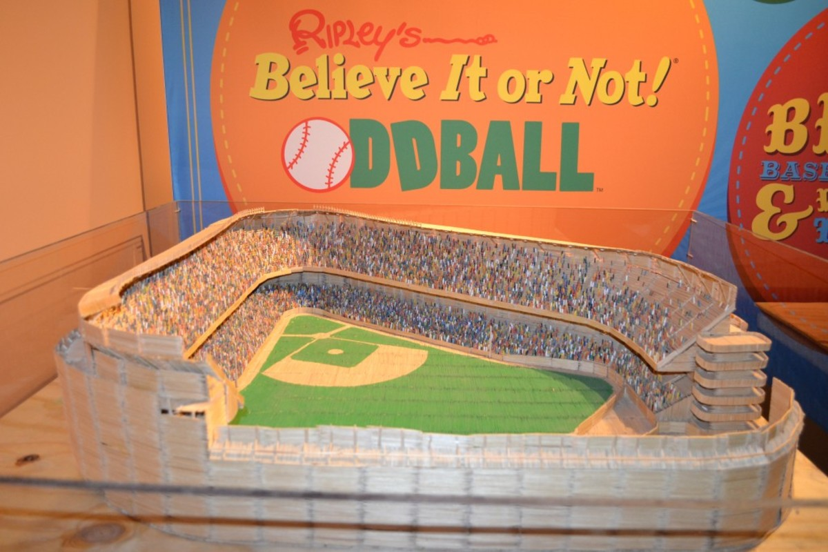 Toothpick Stadium – Yankee Stadium made from more than 100,000 toothpicks. All images courtesy of Louisville Slugger Museum & Factory.