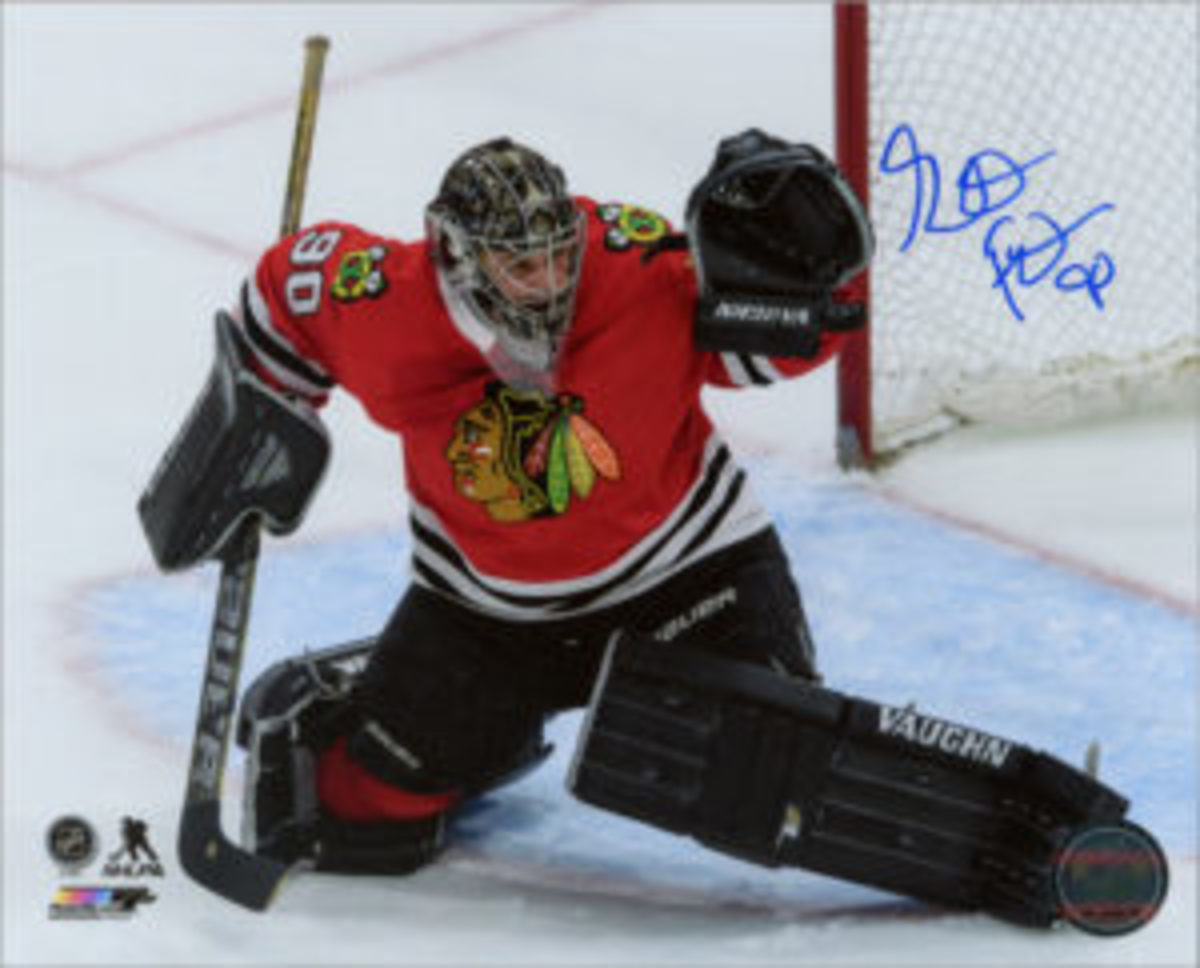 Scott Foster, the emergency backup goaltender who made headlines in March, was a surprise guest at the Convention. He signed autographs after a panel on Saturday afternoon.