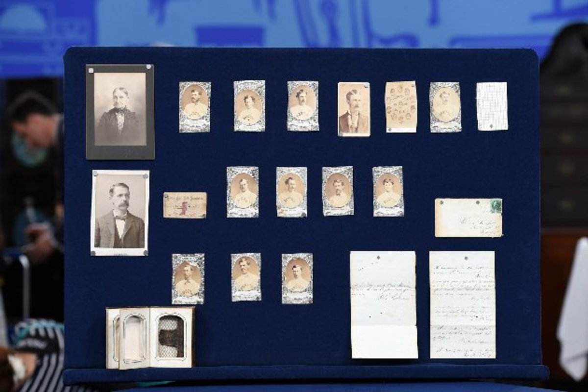 This collection of Boston Red Stockings memorabilia is valued at $1 million.