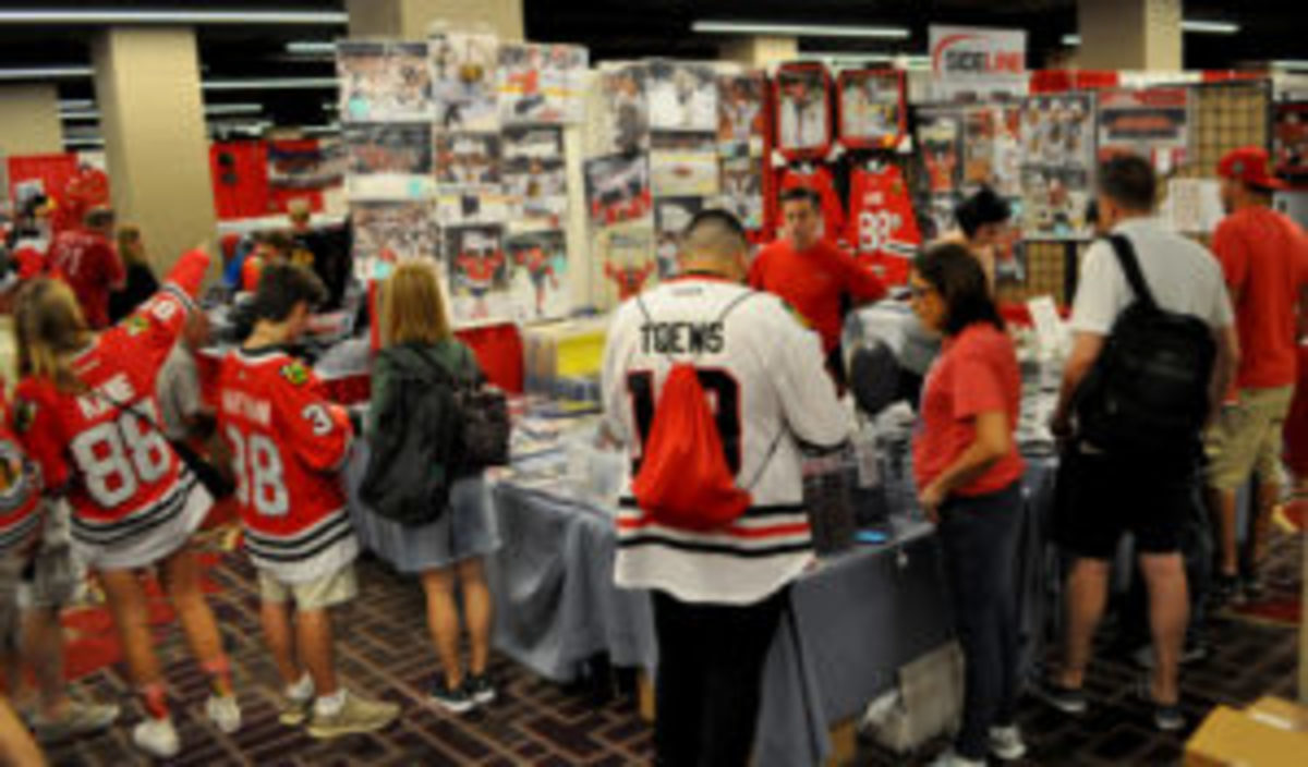 Photos and pucks were strong sellers for vendors in the dealer room.