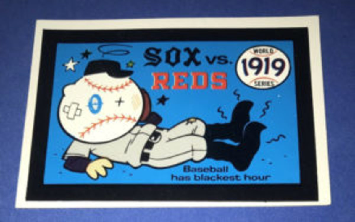 The 1919 World Series card from the 1970 Fleer World Series.