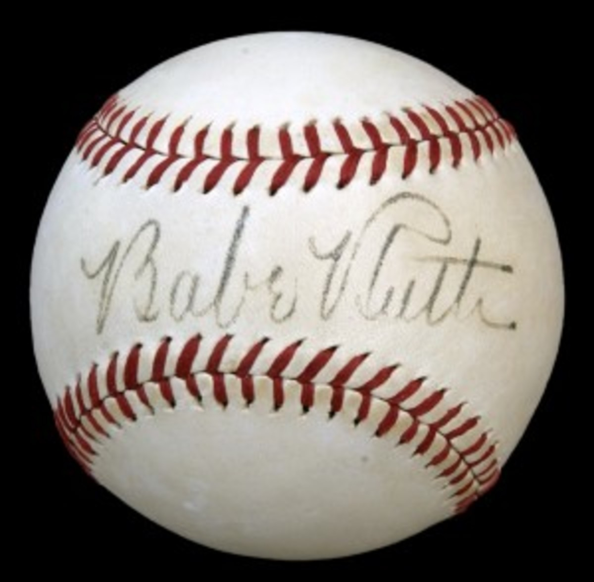 Baseball autographed by Babe Ruth