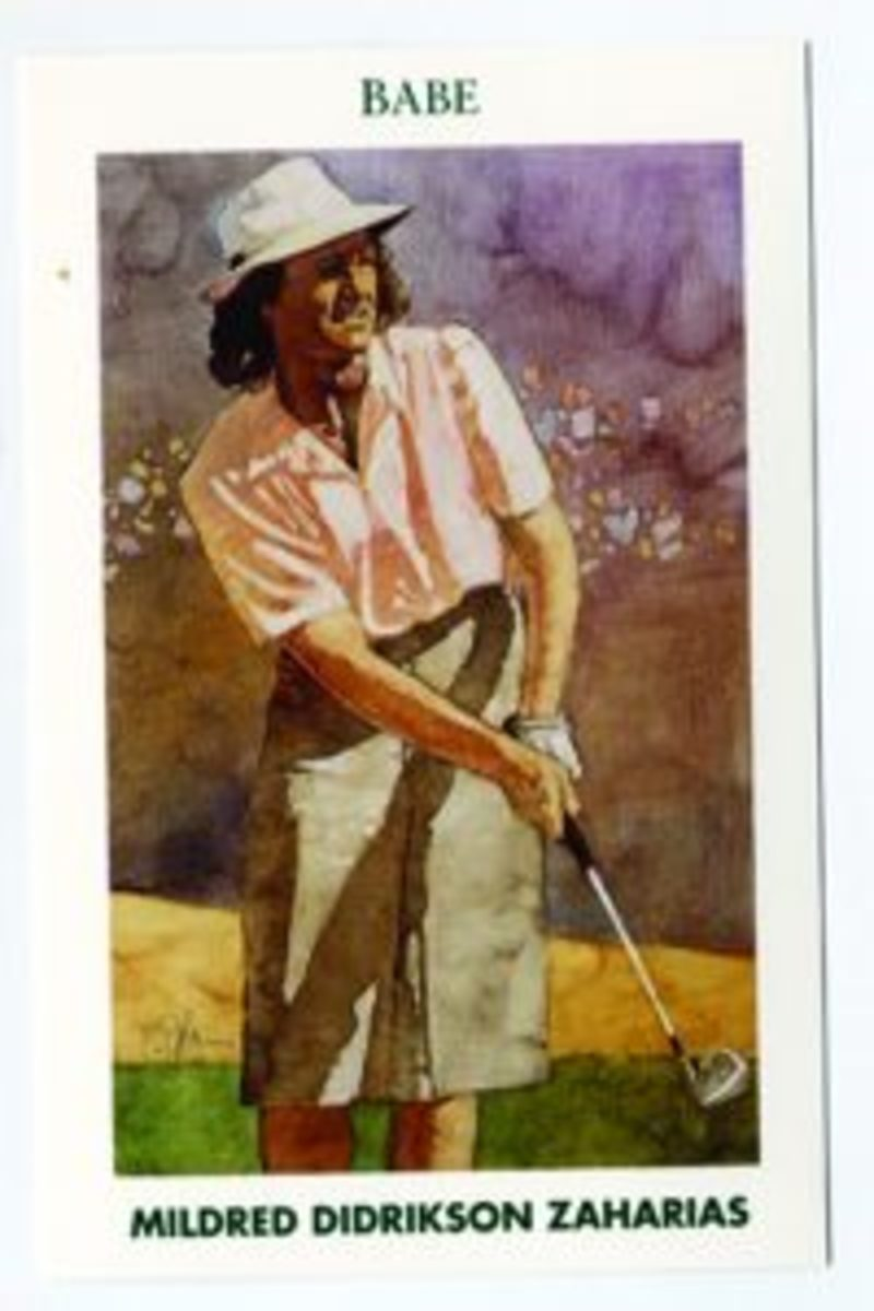Todd Mueller Enterprises' Golf's Greatest card set also includes cards of female golfers.
