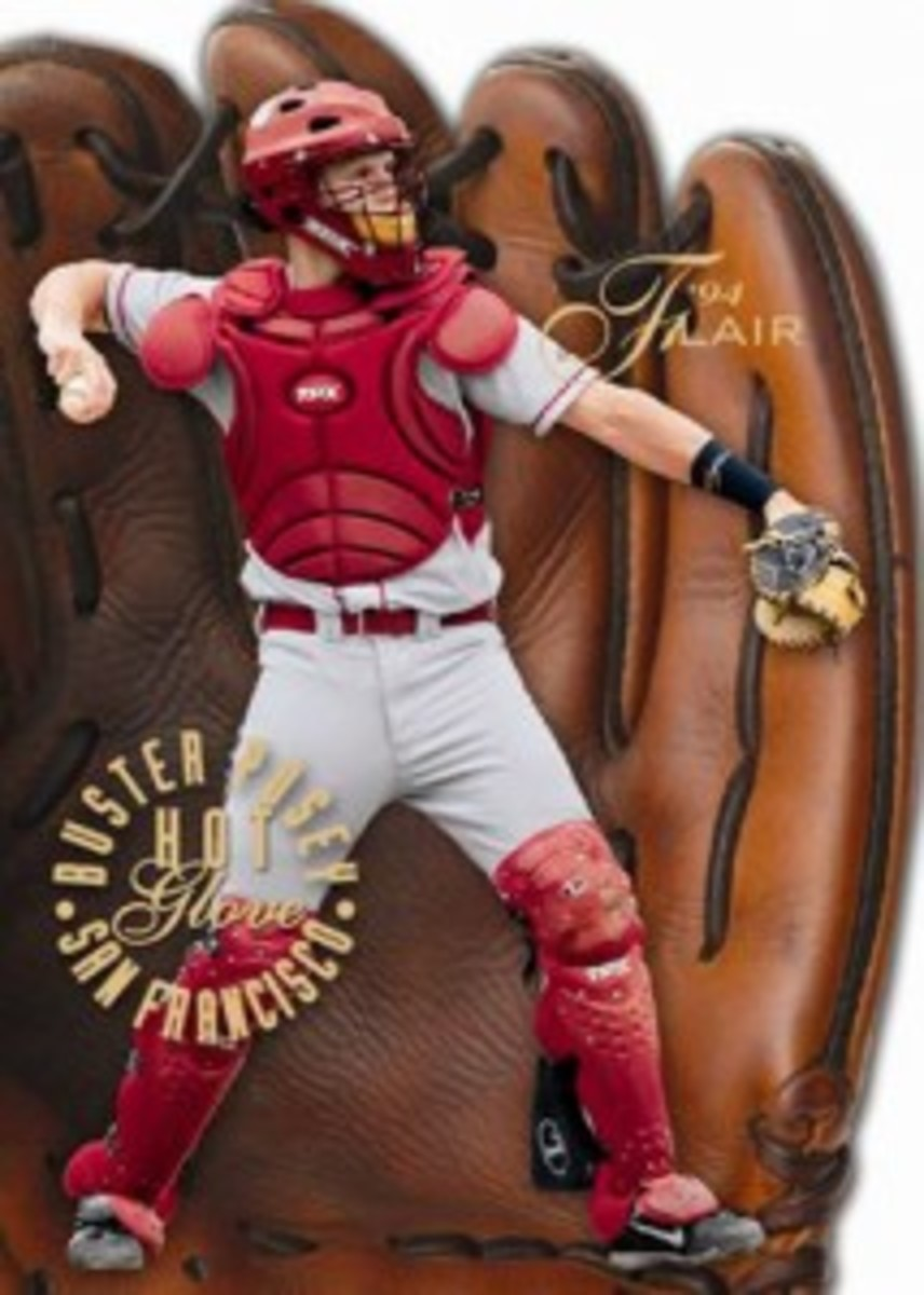 Upper-Deck-Fleer-Retro-Baseball-Flair-Hot-Glove-Buster-Posey