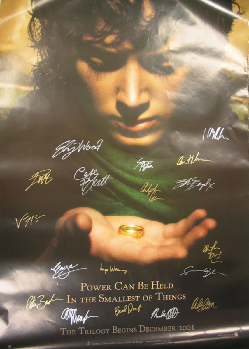 This is another movie poster with forged signatures.