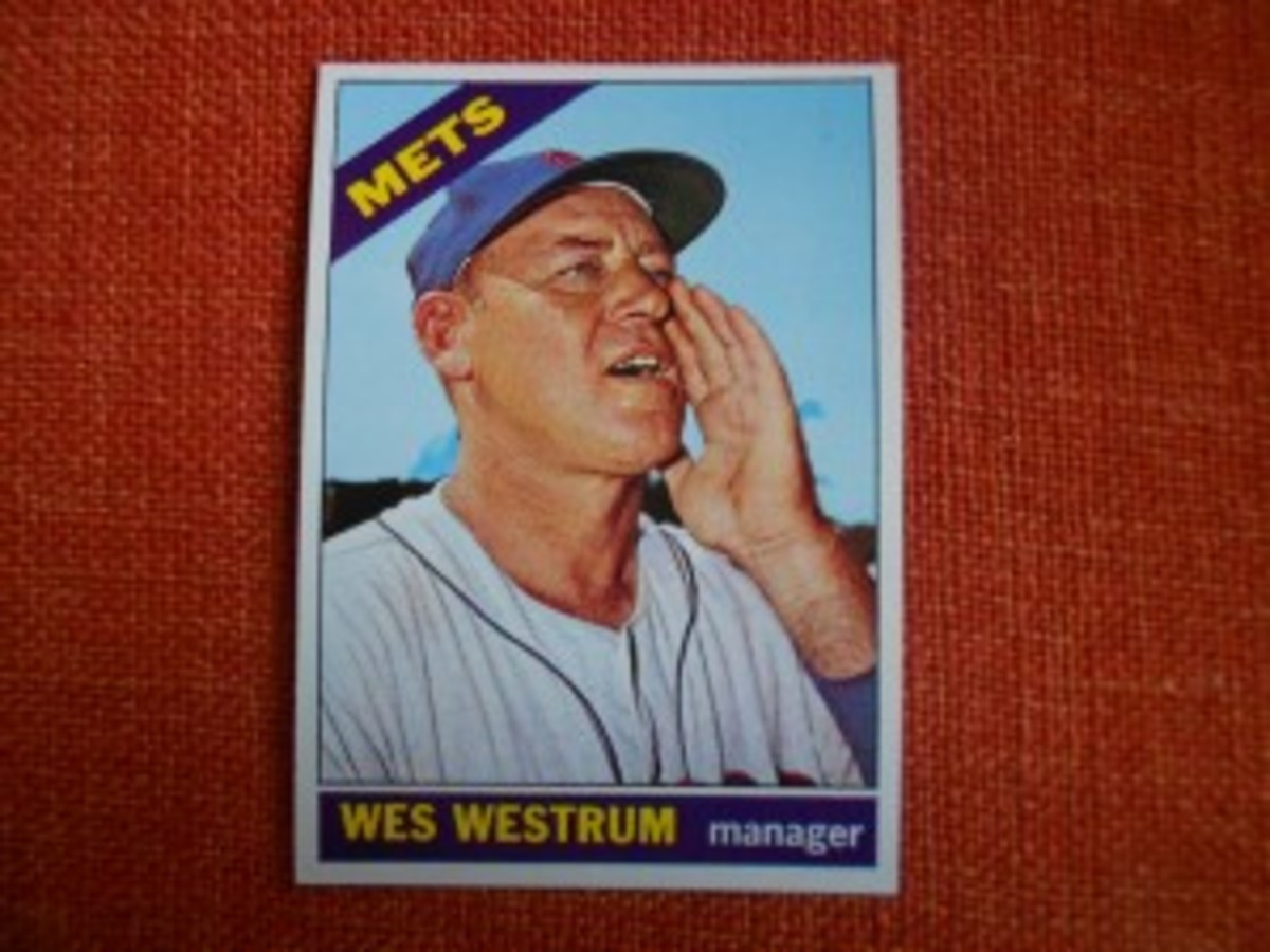 The 1966 season marked the first one that Casey Stengel was absent from baseball after a 56-year career in the game. His replacement as Mets manager was Wesley Noreen Westrum. That's right – Noreen.