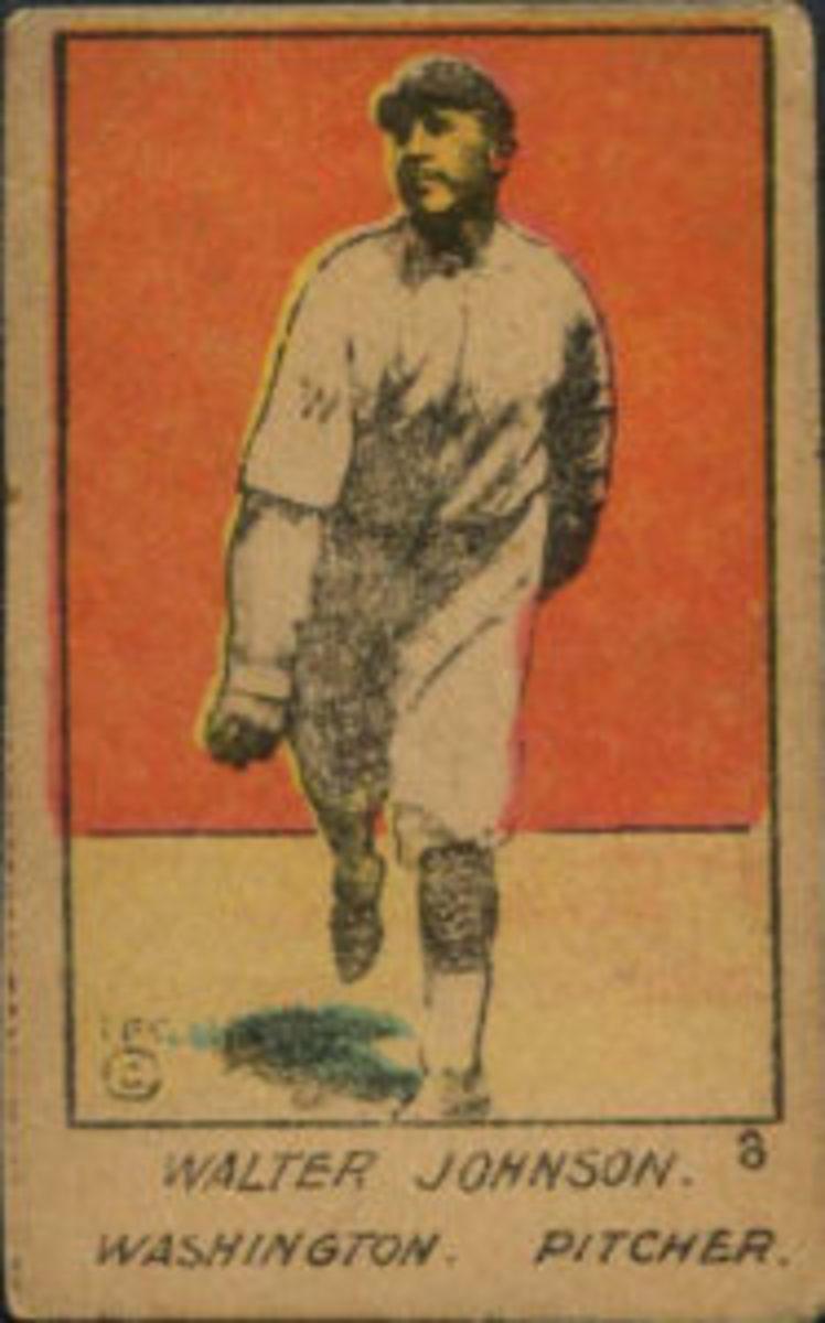 1920 W516-1 Walter Johnson No. 8
