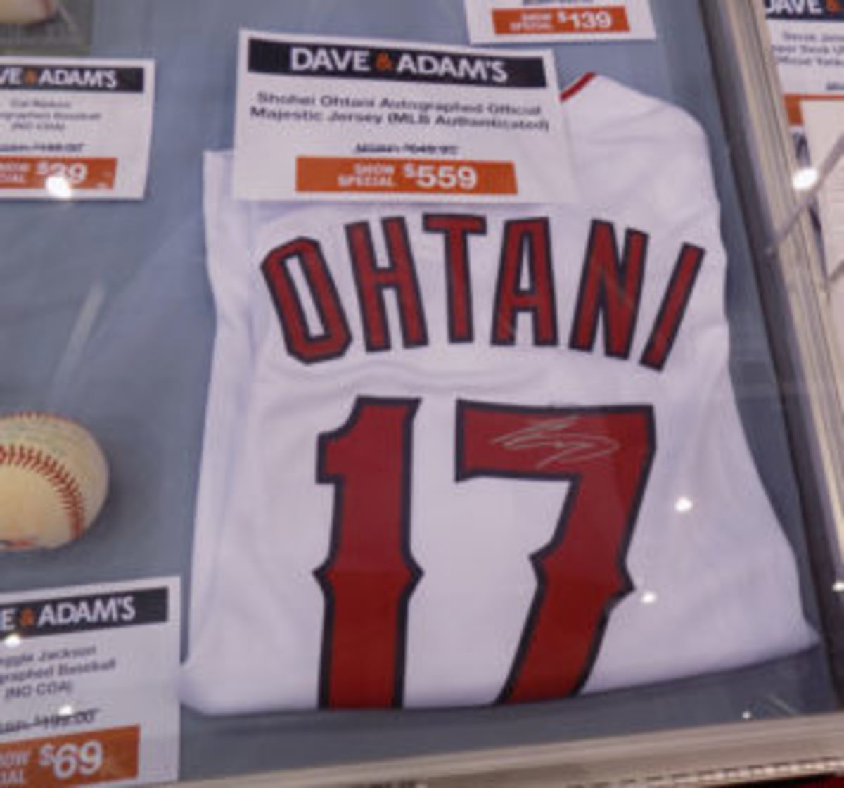 An autographed Shohei Ohtani jersey was available at the National for $559. (Barry Blair photo)